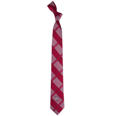 Ohio State Buckeyes Plaid Skinny Tie