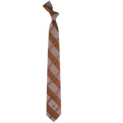 Texas Longhorns Plaid Skinny Tie