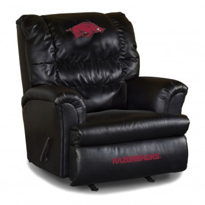 Arkansas Razorbacks Leather Big Daddy Recliner