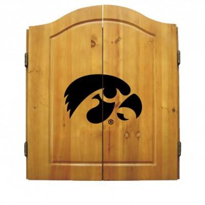 Iowa Hawkeyes Dart Board Cabinet
