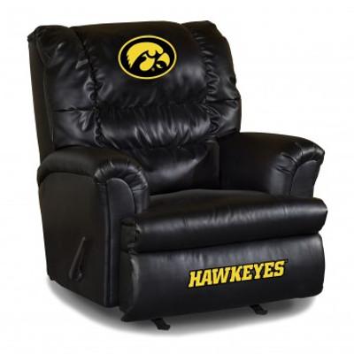 Iowa Hawkeyes Leather Big Daddy Recliner