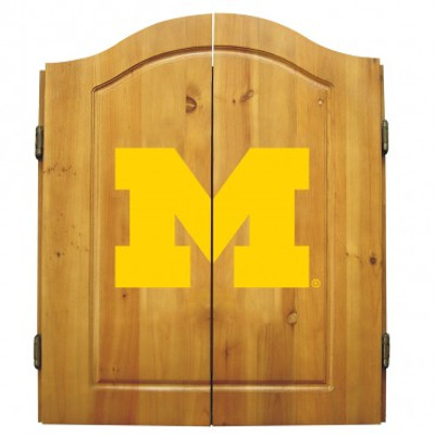 Michigan Wolverines Dart Board Cabinet