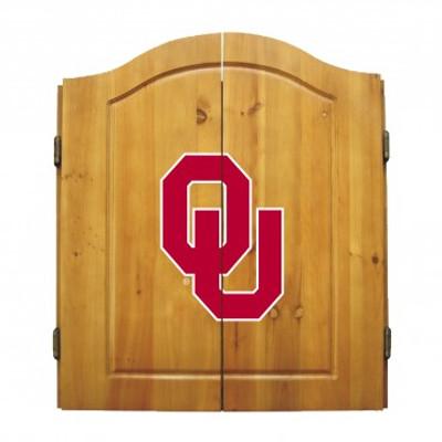 Oklahoma Sooners Dart Board Cabinet