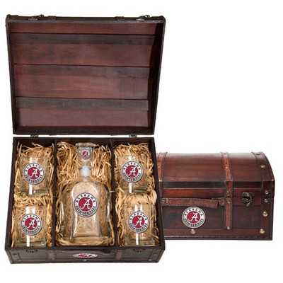 Alabama Crimson Tide Capitol Decanter Chest Set