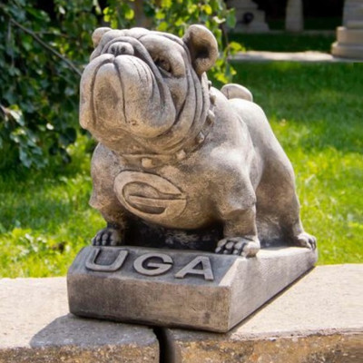Georgia Bulldogs Vintage Mascot Garden Statue