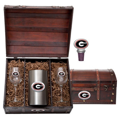 Georgia Bulldogs Wine Chest Set