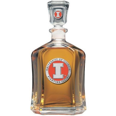 Illinois Fighting Illini Capitol Decanter
