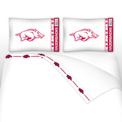 Arkansas Razorbacks Microfiber Sheet Set
