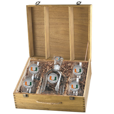 Miami Hurricanes Capitol Decanter Box Set