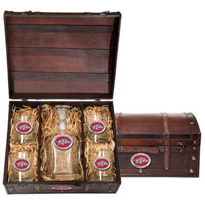 Arkansas Razorbacks Capitol Decanter Chest Set