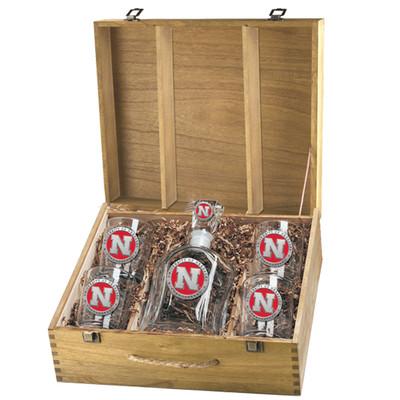 Nebraska Huskers Capitol Decanter Box Set