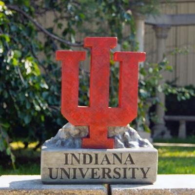 Indiana Hoosiers Mascot Garden Statue