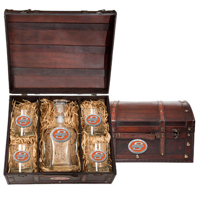 Oklahoma State Cowboys Capitol Decanter Chest Set