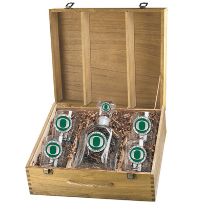 Oregon Ducks Capitol Decanter Box Set