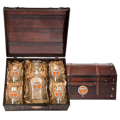 Tennessee Volunteers Capitol Decanter Chest Set