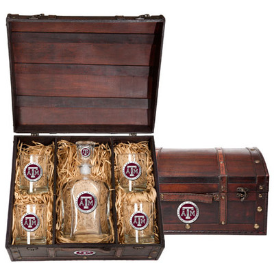 Texas A&M Aggies Capitol Decanter Chest Set