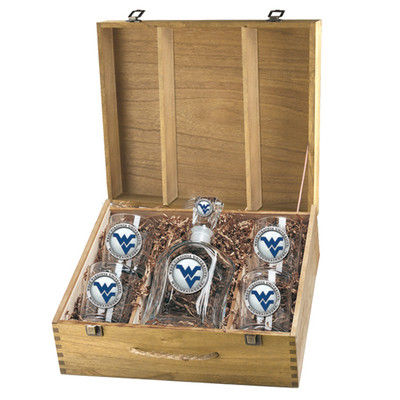 West Virginia Mountaineers Capitol Decanter Box Set