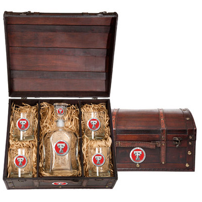 Texas Tech Red Raiders Capitol Decanter Chest Set
