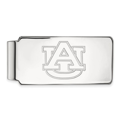 Auburn University Logo Sterling Silver Money Clip
