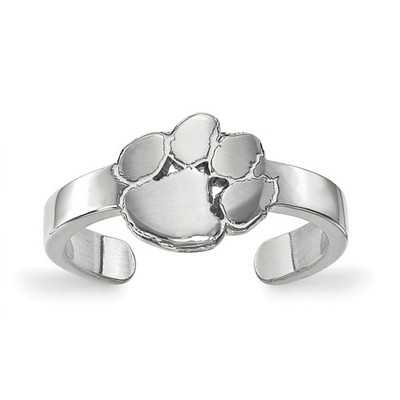 Clemson Tiger Paw Sterling Silver Toe Ring