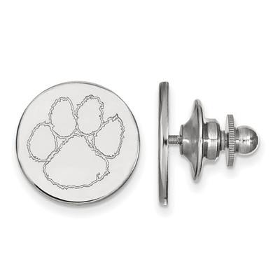 Clemson Tiger Paw Sterling Silver Lapel Pin