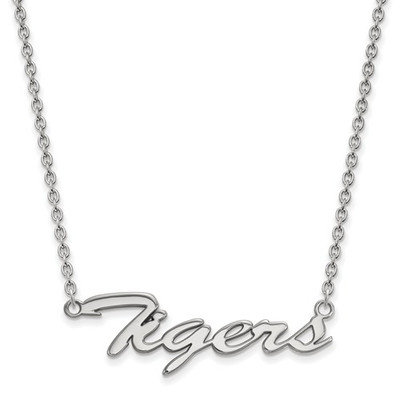 Clemson Tigers Script Logo Sterling Silver Necklace