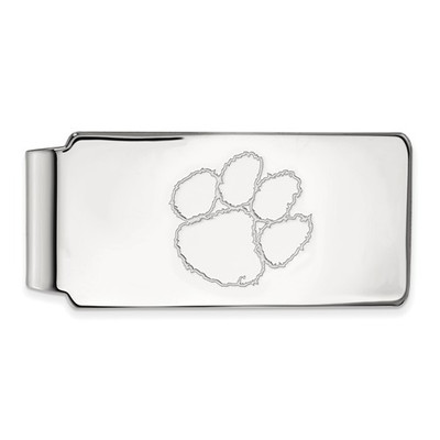 Clemson Tiger Paw Sterling Silver Money Clip
