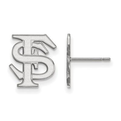 FSU Logo Sterling Silver Post Earrings