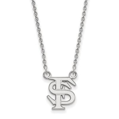FSU Logo Sterling Silver Pendant Necklace