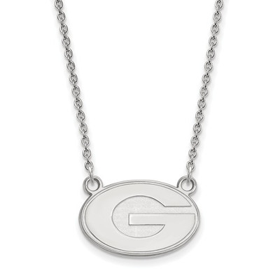 Georgia Bulldogs Sterling Silver Necklace