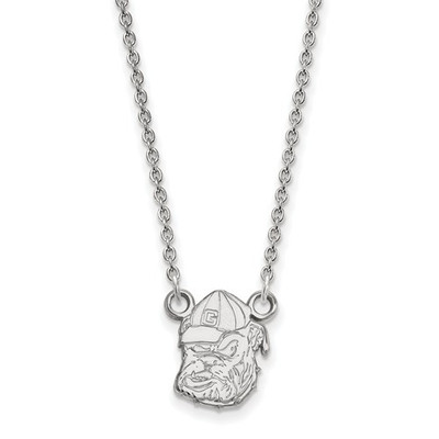 Georgia Bulldogs Sterling Silver Pendant Necklace