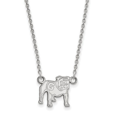 Georgia Bulldogs Mascot Sterling Silver Necklace
