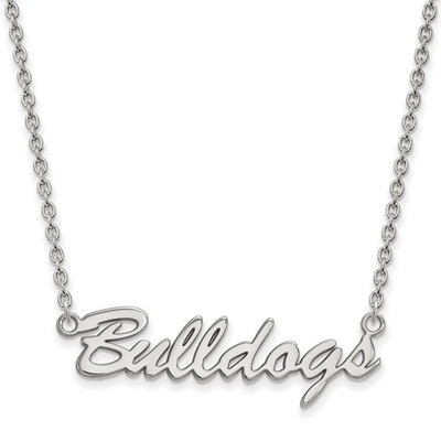 Georgia Bulldogs Script Logo Sterling Silver Necklace