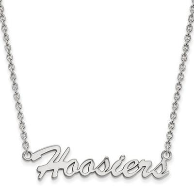 Indiana Hoosiers Script Logo Sterling Silver Necklace