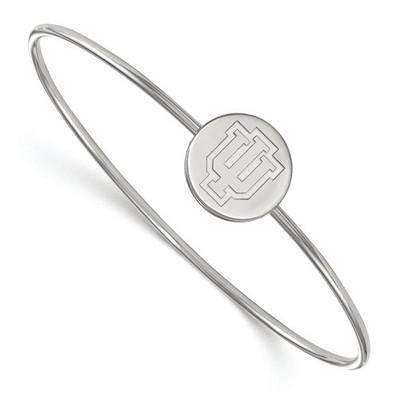 Indiana Hoosiers Sterling Silver Bangle Bracelet