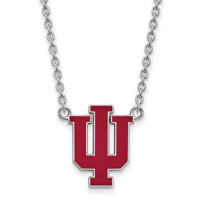 Indiana Hoosiers Enamel Sterling Silver Necklace