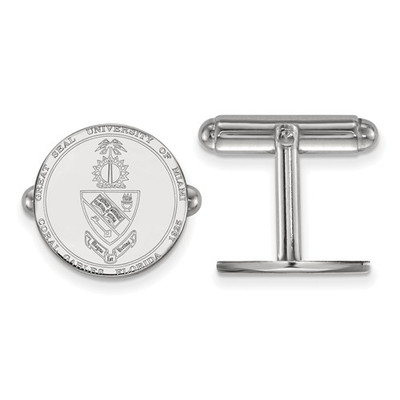 Miami Hurricanes Crest Sterling Silver Cufflinks