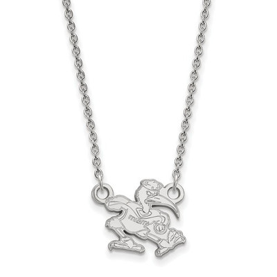 Miami Hurricanes Sebastian Sterling Silver Necklace