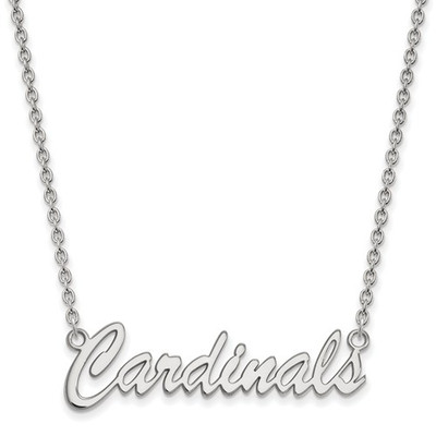 Louisville Cardinals Script Sterling Silver Necklace