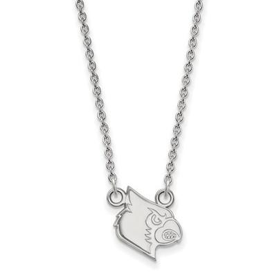 Louisville Cardinals Mascot Silver Pendant Necklace