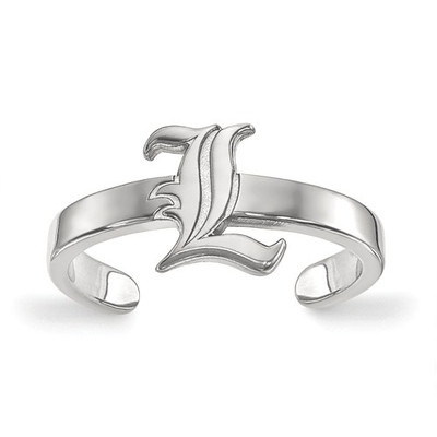Louisville Cardinals L Sterling Silver Toe Ring