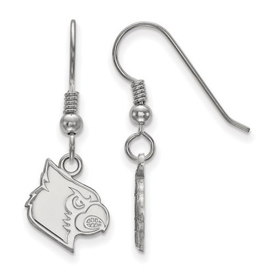 Louisville Cardinals Mascot Silver Dangle Earrings