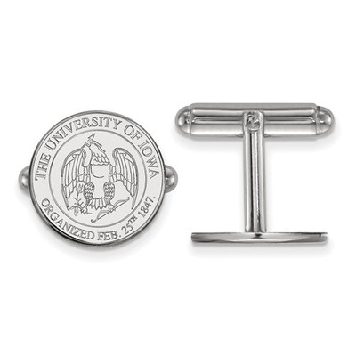 Iowa Hawkeyes Crest Sterling Silver Cufflinks