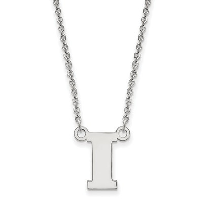 Iowa Hawkeyes I Logo Sterling Silver Necklace