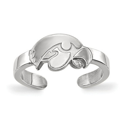 Iowa Hawkeyes Sterling Silver Toe Ring