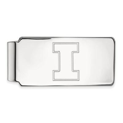Illinois Fighting Illini I Logo Sterling Silver Money Clip