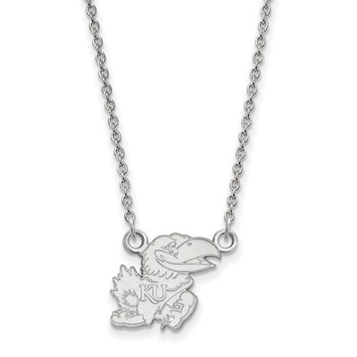 Kansas Jayhawks Sterling Silver Pendant Necklace