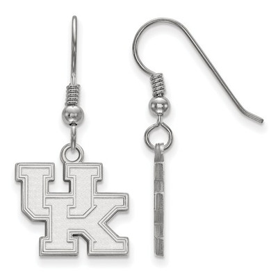 Kentucky Wildcats UK Logo Silver Dangle Earrings
