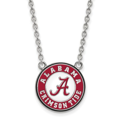 Alabama Crimson Tide Sterling Silver Enamel Necklace