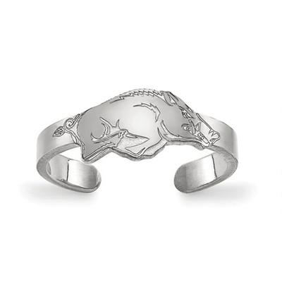 Arkansas Razorbacks Sterling Silver Toe Ring